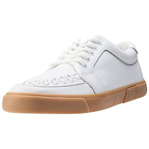 9de2013488c3 T.U.K VLK No-Ring Vulcanized Sneaker Unisex Trainers White Gum - 45 ...