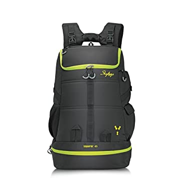 sale retailer e61f6 12cce Skybags Weekender 49 Ltrs Black Hiking Backpack (TROP45BLK)  Amazon.in   Bags, Wallets   Luggage