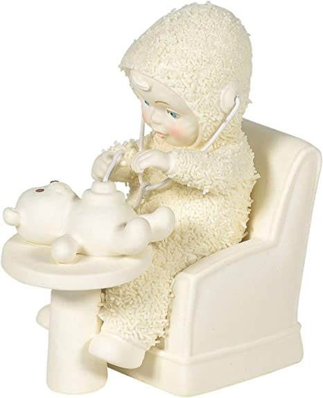 NEW Dept 56 SNOWBABIES Figurine WITH ALL MY HEART Porcelain Snow Baby PINK SHOE