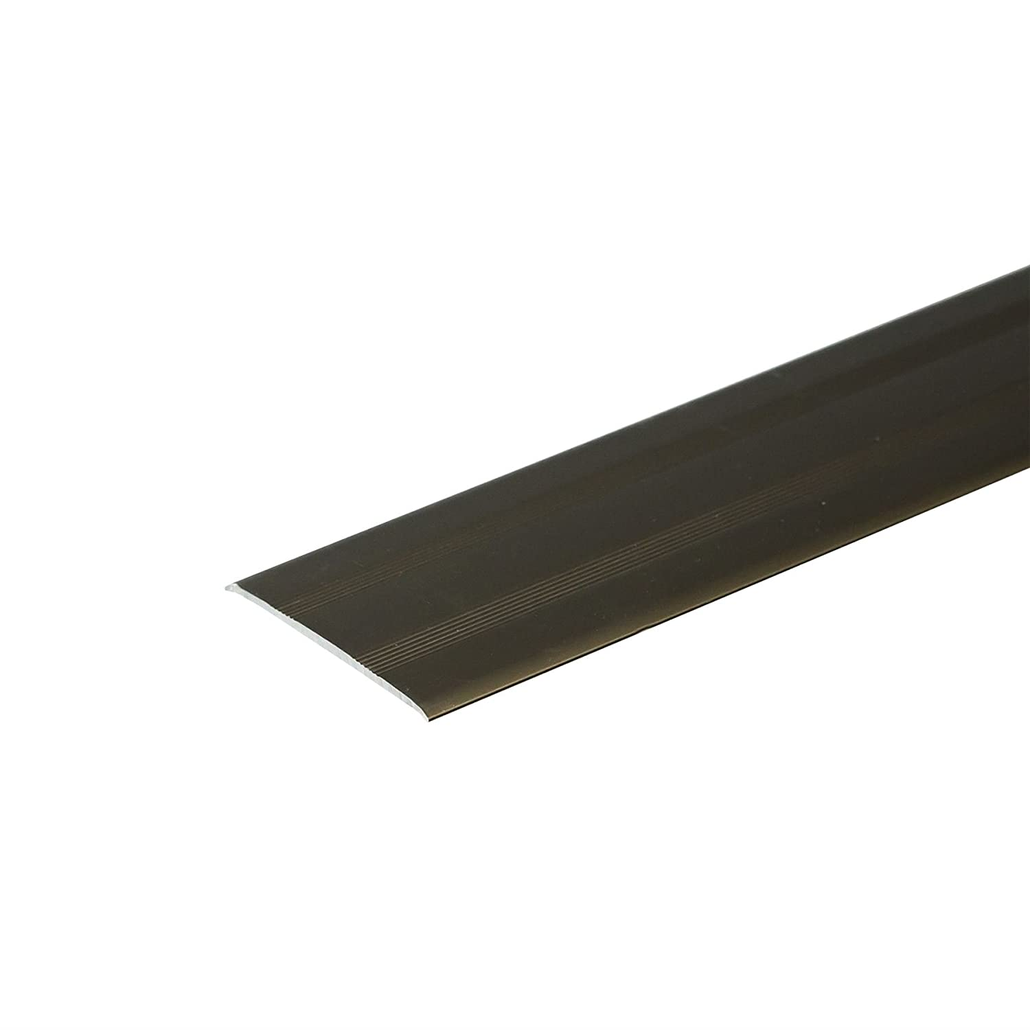 SELF-ADHESIVE ANODISED ALUMINIUM DOOR FLOOR BAR EDGE TRIM THRESHOLD PROFILE  930mm x 35mm A08 SILVER IANPAV
