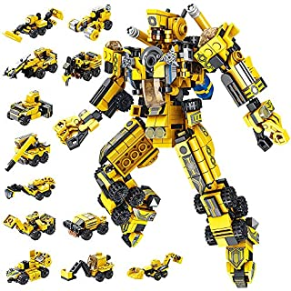 VATOS STEM Building Toys, 573 PCS Robot STEM Toys for 6 Year Old Boys 25-in-1 Engineering Building Bricks Construction Vehicles Kit Building Blocks Best Gifts for Kids Aged 5 6 7 8 9 10 11 12 Yr Old