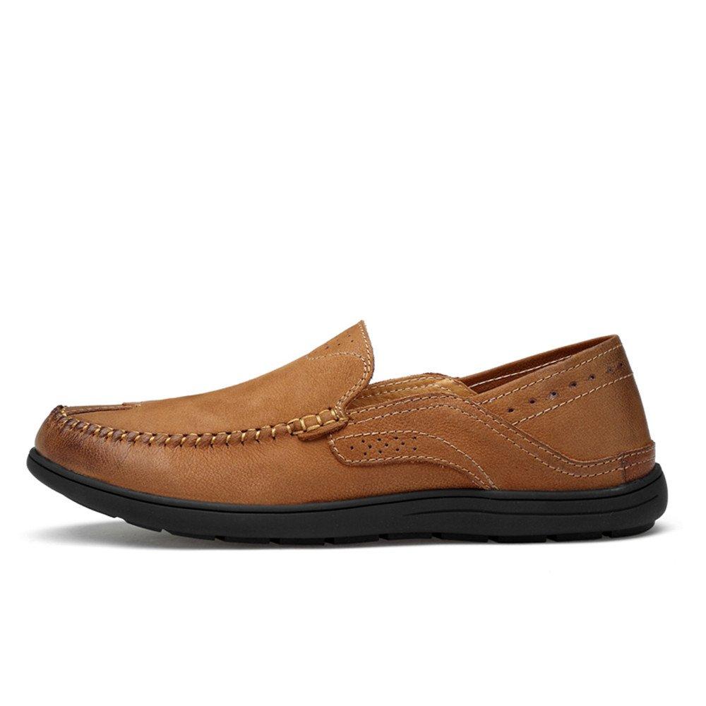 Hongjun schuhe, Herren Patch Schuhe 2018 Penny Loafers Patch Herren Vamp Slip on Casual Mokassins Boot aus Weichem Gummi, Hollwo Gray, 37 Braun 0289e4