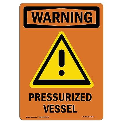 Letrero de advertencia de Osha - cartel a presión con ...
