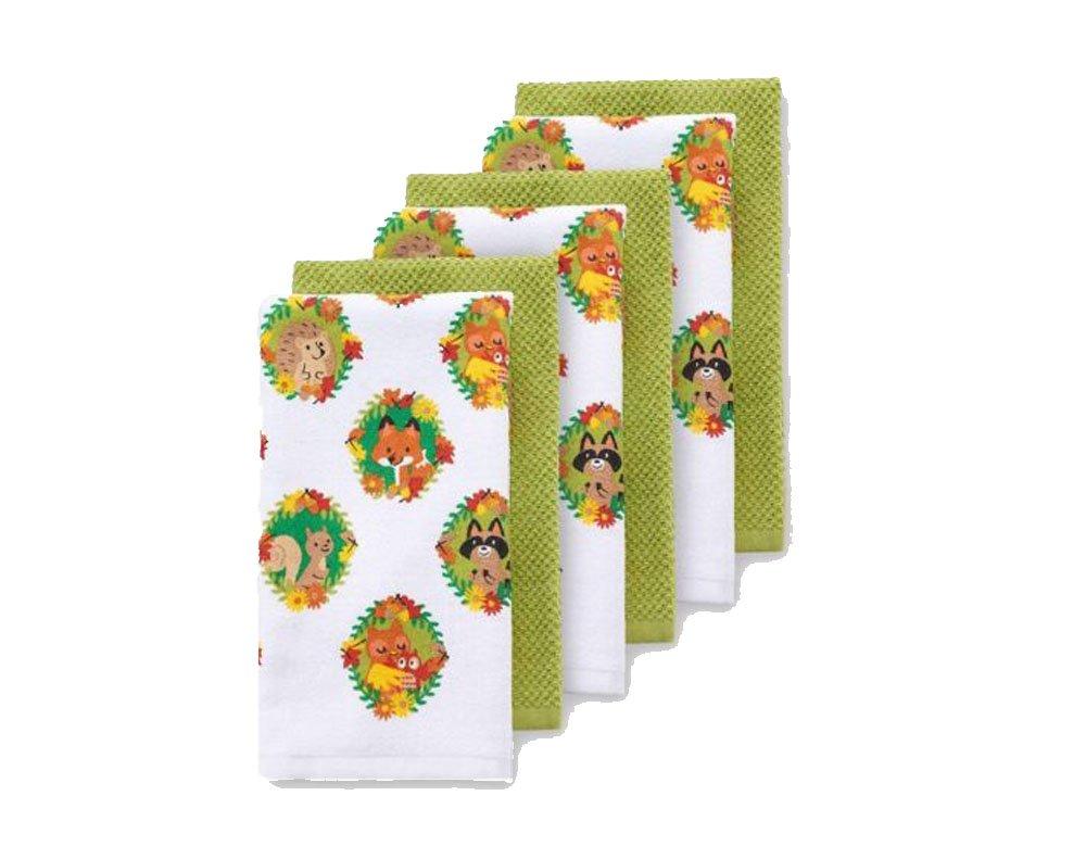 The Big One 6-pk. Animal Portraits Kitchen Towel Set Fall Thanksgiving