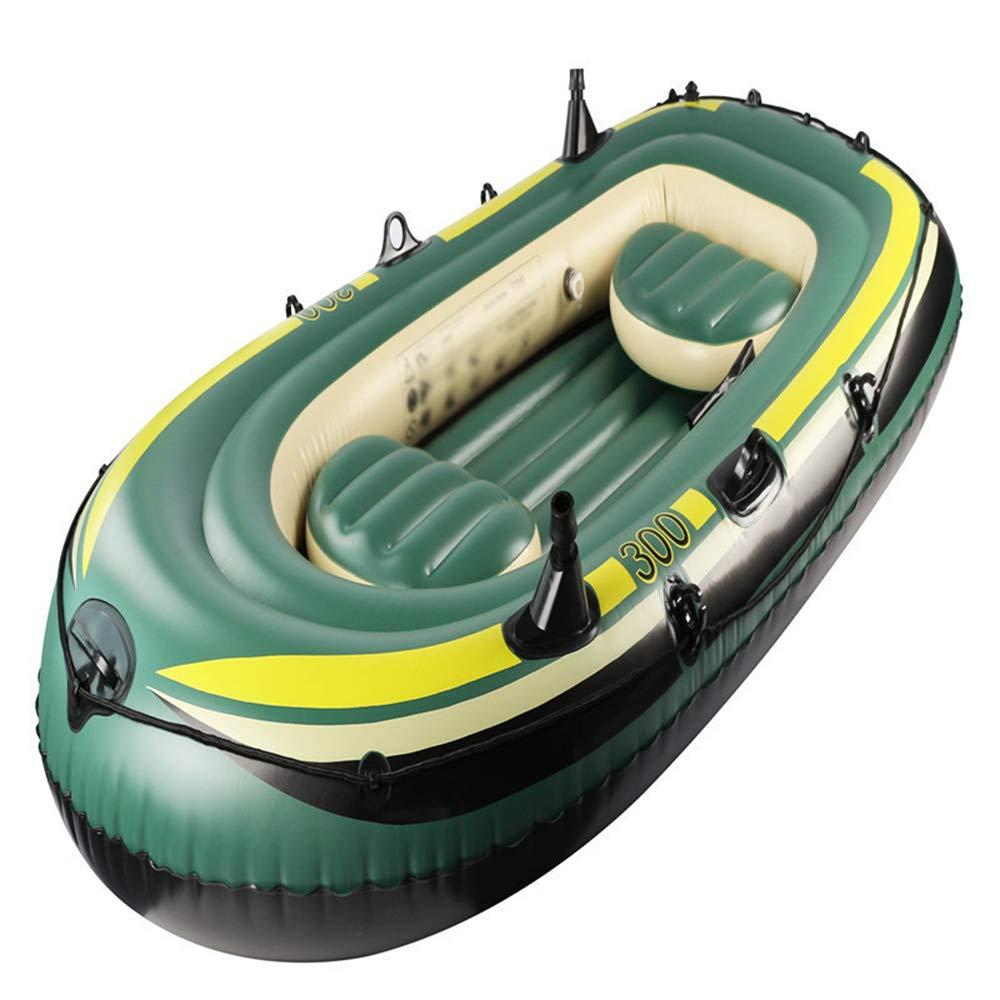 三人カヤック肥厚耐久性のあるディンギー屋外チャレンジャーインフレータブルボート   B07PFV23HQ