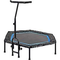 FA Sports FlyJump Fit Indoor Fitness Trampoline voor volwassenen, uniseks, zwart, blauw, Ø 126 x 114 cm