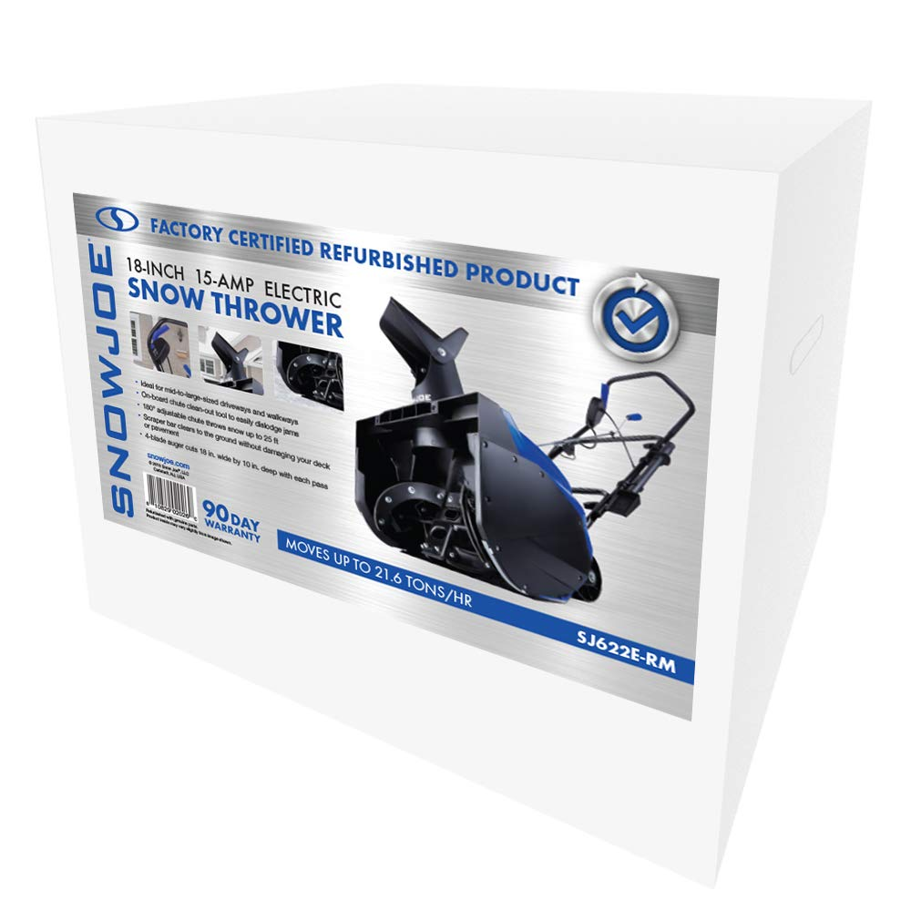 Certified Refurbished Snow Joe Ultra SJ622E-RM Factory Refurbished 15 Amp 18 in Electric Snow Thrower