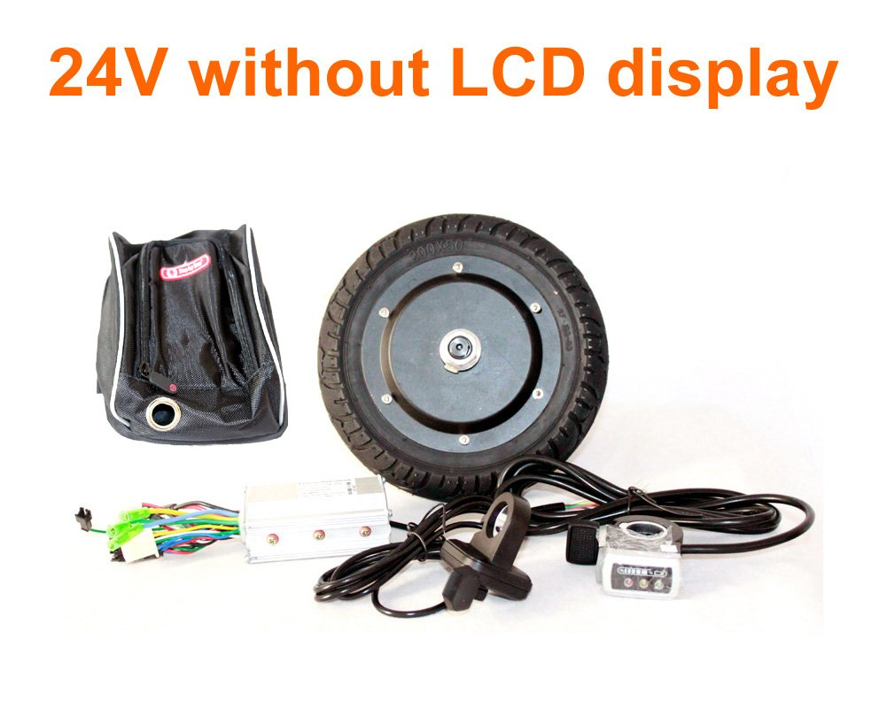 L-faster 350W 8 INCH Electric Scooter BRUSHLESS HUB Motor KIT CAN with LCD Display WUXING Throttle DIY Electric Scooter Town 7 XL (FLD24V no LCD)