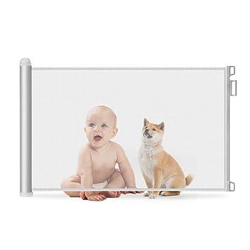 se extiende hasta 51 de ancho puerta de seguridad extra ancha para beb/és de 35 de alto puerta de seguridad de malla para beb/és y mascotas puerta para perros Puerta retr/áctil para beb/és