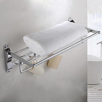 Toallas de baño de lujo, toallero plegable de acero inoxidable, WC, Cuarto de