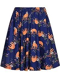 Women's Retro Pleated Floral Print Skirt