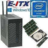 Asrock DeskMini 110 Intel Celeron G3930 Mini-STX System, 32GB Dual Channel DDR4, 480GB NVMe M.2 SSD, 1TB HDD, Win 10 Pro Installed & Configured by E-ITX