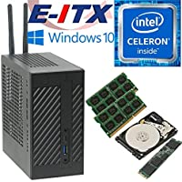 Asrock DeskMini 110 Intel Celeron G3930 Mini-STX System, 32GB Dual Channel DDR4, 480GB NVMe M.2 SSD, 1TB HDD, Win 10 Pro Installed & Configured by E-ITX