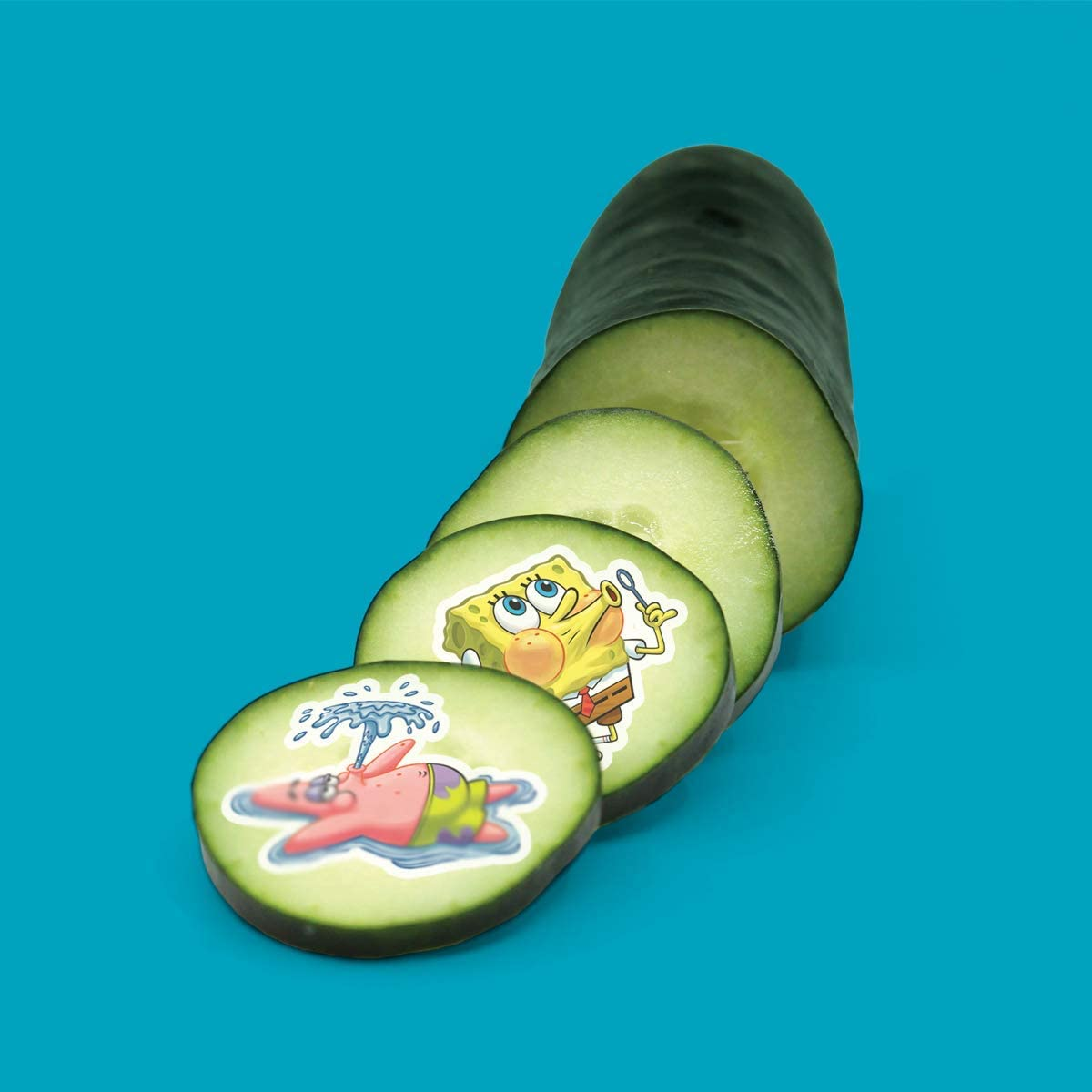 Spongebob No Sugar Edible Stickers Sticky Lickits All-Natural 5-Pack