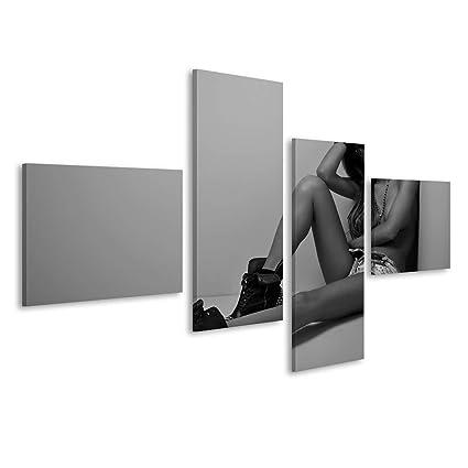 islandburner Cuadro Cuadros Foto en Blanco y Negro de Mujer ...