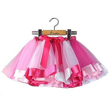 67baf7d0d Amazon.com  Bopika Layered Ballet Tulle Rainbow Tutu Skirt for ...
