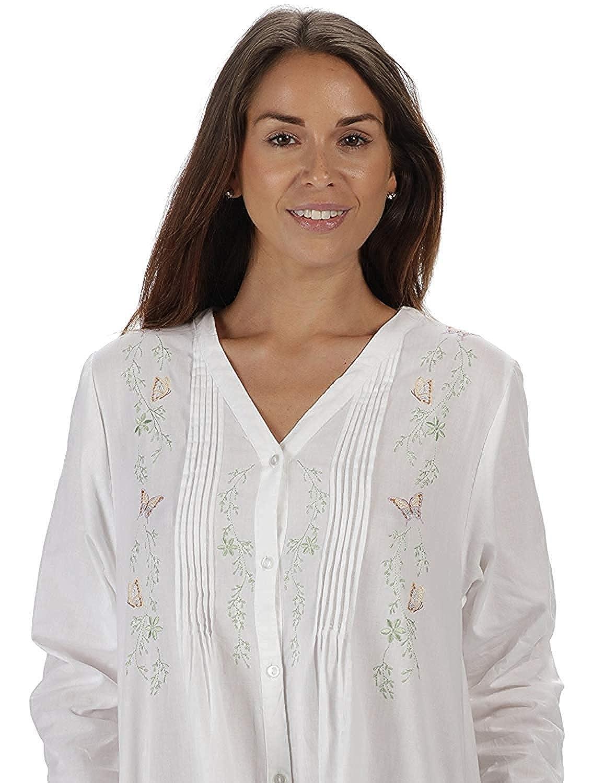 Kate XXL Bianco Bianco The 1 for U 100/% Cotton Donna Stile Vittoriano Camicia da Notte 7 Sizes
