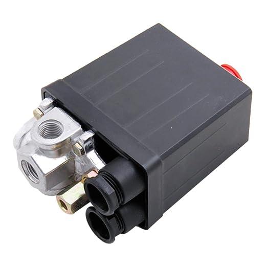 Interruptor de Compresor de Aire de Presión Válvula de Control para 90-120 PSI 240V: Amazon.es: Bricolaje y herramientas