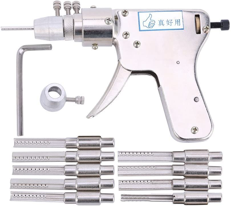 Pistolet de crochetage de serrure TPM Go - Avec 9clés à frapper
