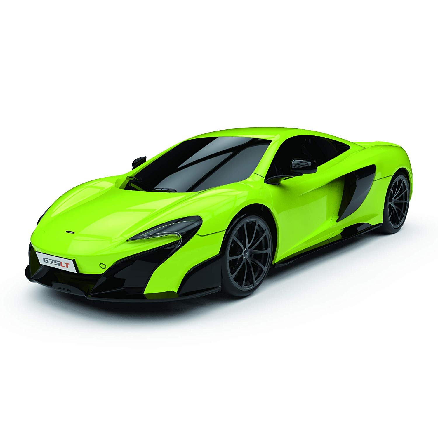 McLaren 675LT Car with Working Lights in Green Green Electric Radio Controlled Road RC Cars Boys Girls Toys Official License 1:18 Model 2.4Ghz Race Over 10 Cars at Once