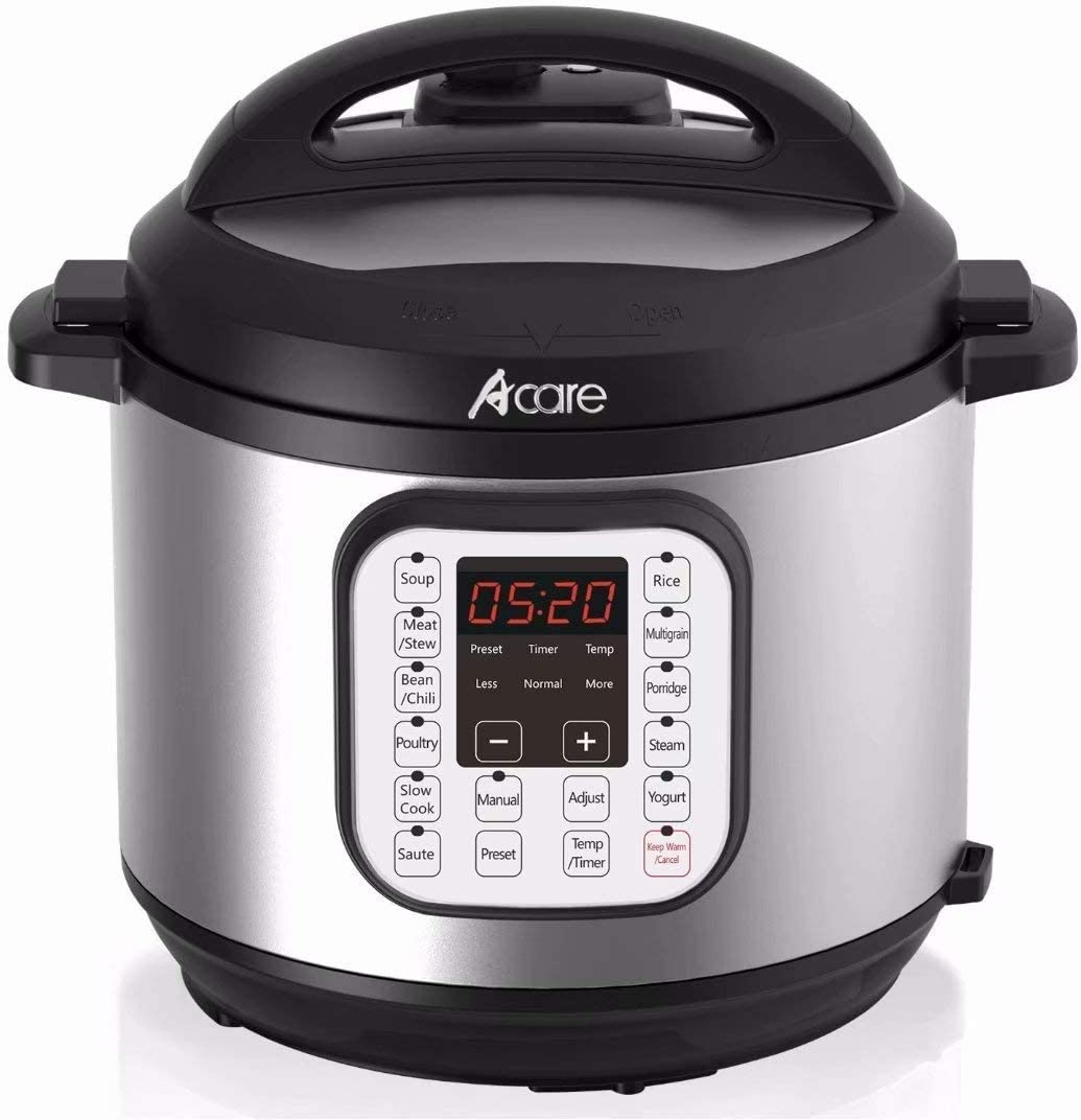 Electric Pressure Cooker, 6 Qt 7-in-1 Programmable Multi-Cooker, Stainless Steel Rice Cooker, Steamer, Yogurt Maker and Warming Pot, 1000W