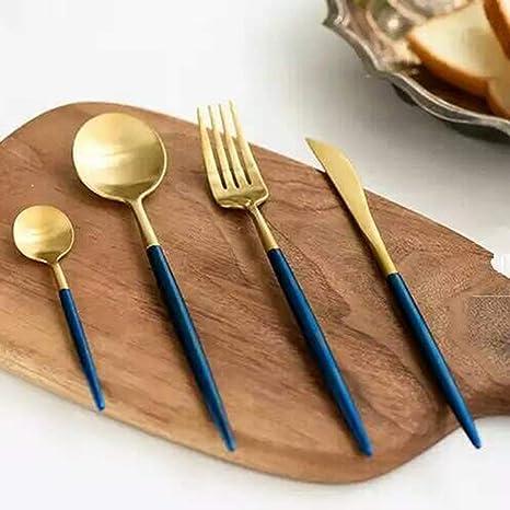 Conjunto de vajilla de acero inoxidable Conjunto de cubiertos de lujo Tenedor Cuchillo cucharas traje Cuchillo