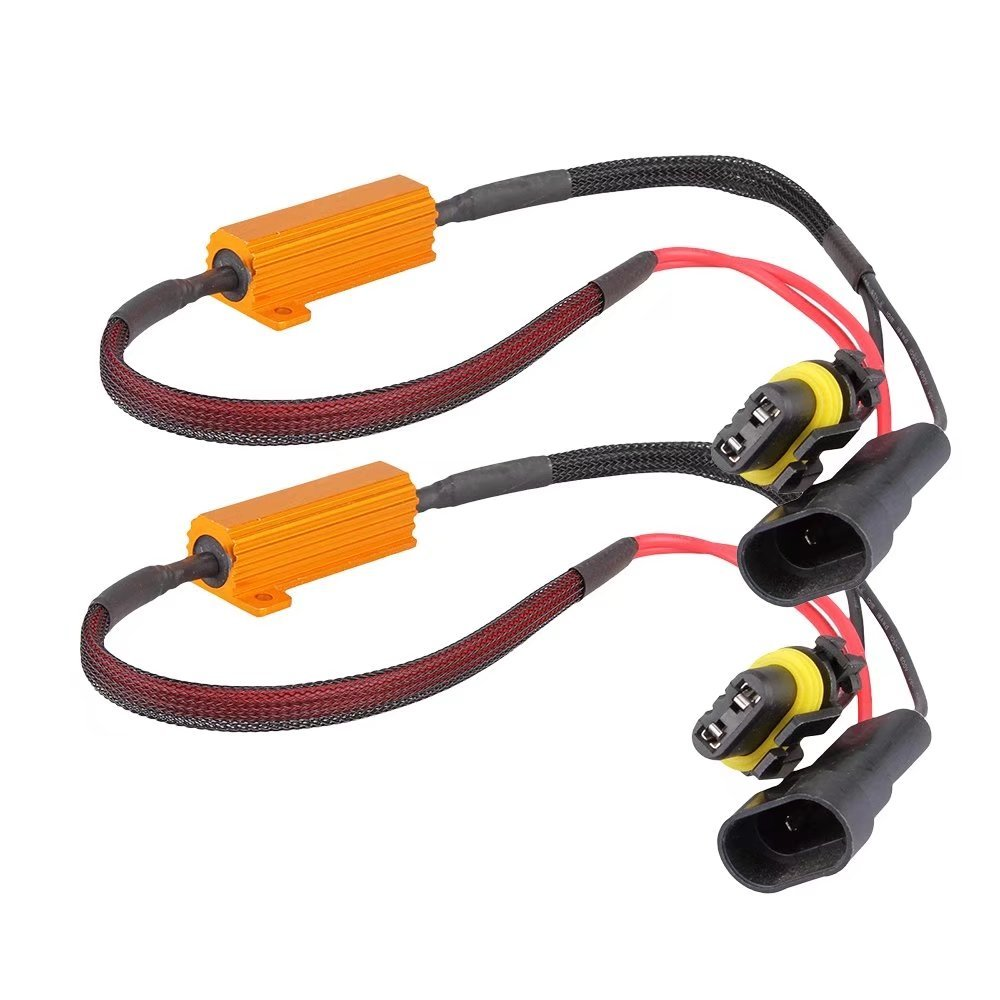 JahyShow 2PCS 9005 9006 50W 6Ohm Error Free Anti-flicker LED DRL Fog Light Canbus Load Resistor