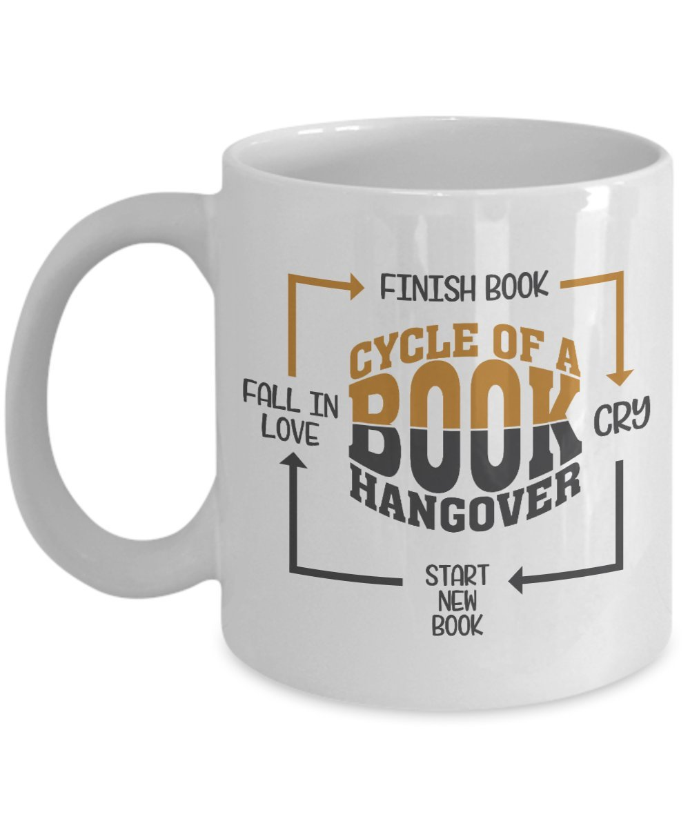 Amazon Cycle Of A Book Hangover Coffee Tea Gift Mug And Birthday Gifts For Young Women Readers Lovers Kitchen Dining