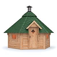 Grillkota Grillhütte Holz braun XXL BBQ Hut