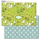 Baby Care Play Mat (Large, CountryTown - Blue)
