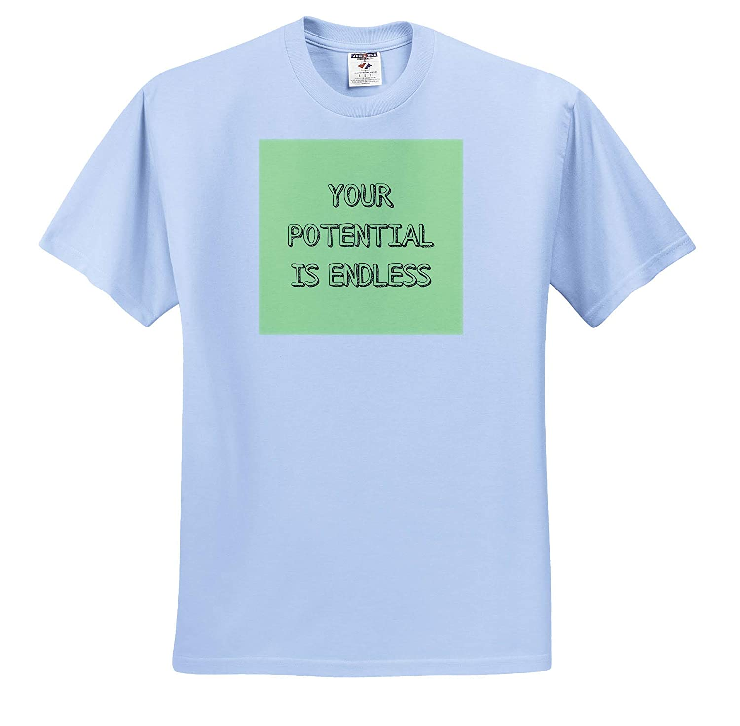 ts/_316971 Image of Your Potential is Endless Quote Adult T-Shirt XL 3dRose Gabriella-Quote