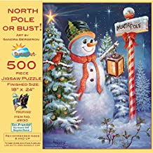 North Pole or Bust 500 pc Jigsaw Puzzle