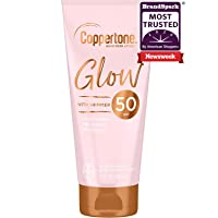 Coppertone Glow Hydrating Sunscreen Lotion with Illuminating Shimmer Minerals and Broad Spectrum SPF 50, Water-resistant, Fast-drying, Free of Parabens, PABA, Phthalates, Oxybenzone, 5 oz