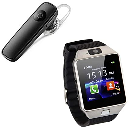 2035319f638 Quick Shop Dz09 Smartwatch with SIM Slot, Memory Card Slot and Camera  Support & K1