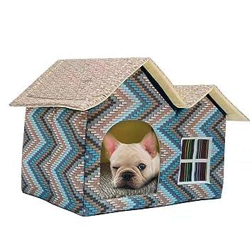 G-lucky casa de Mascotas,Doble Tapa casa de Perro,Gato Perro otoño e Invierno casa de Lujo: Amazon.es: Productos para mascotas