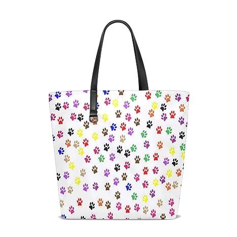 Amazon.com | Paw Prints Tote Bag Purse Handbag Womens Gym ...