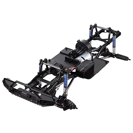 INJORA Assembled Frame Chassis for 1/10 RC Crawler Car SCX10 SCX10 II 90046  90047 (Without Wheels)