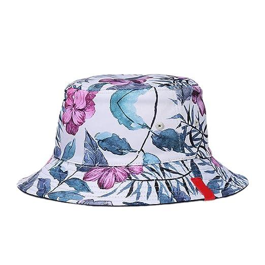 Kentop Sombrero de Pescador para Mujer, Sombrero de Sol de algodón ...
