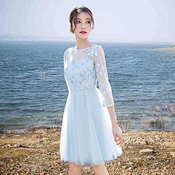 RENQINGLIN Xue Fang Aplastado Flor Vestidos Vestido Marca Bohemia Hilados Raíz Europea Falda
