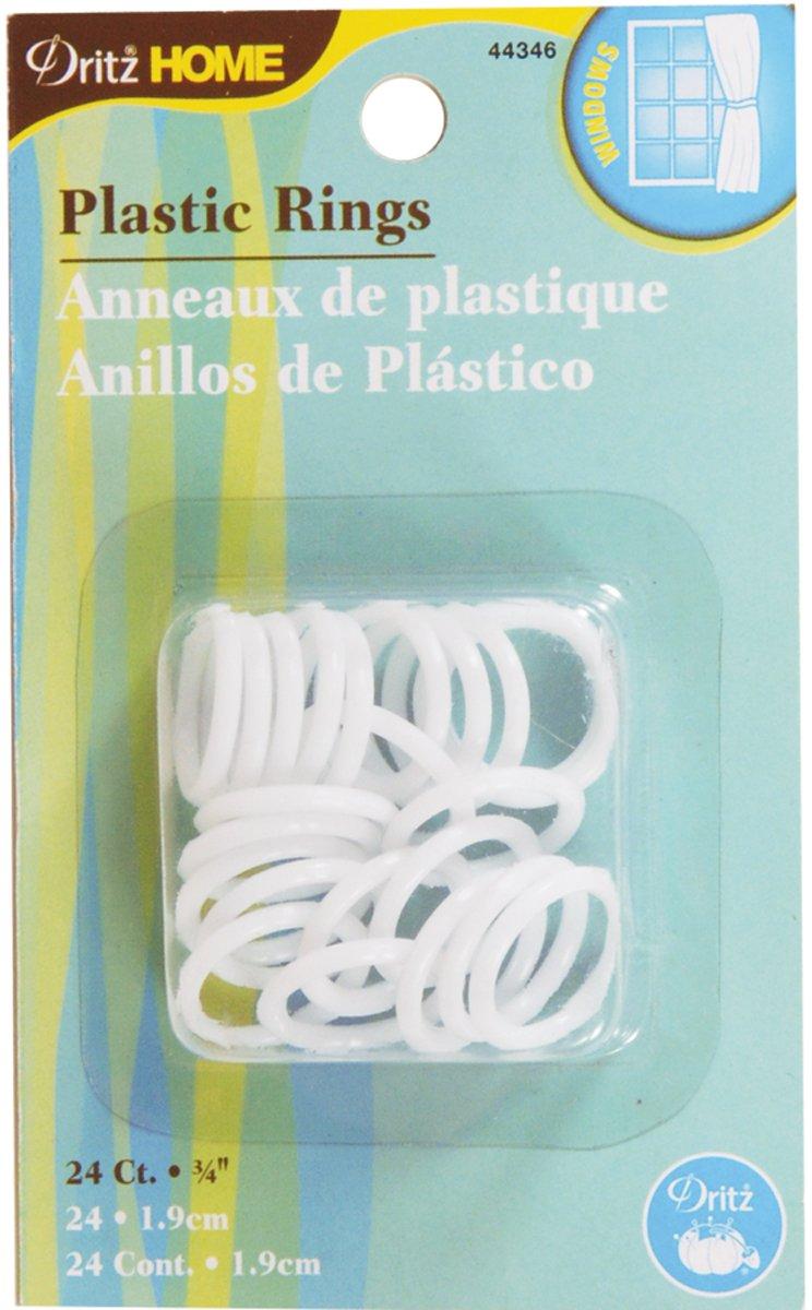 Bulk Buy: Dritz Sewing 3/4in. Plastic Rings 24/Pkg (6-Pack)