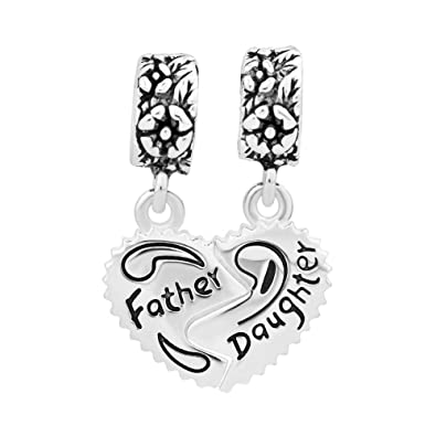 Uniqueen Mother Daughter Dangle Charms fits Biagi & Troll bracelets fG6CE7