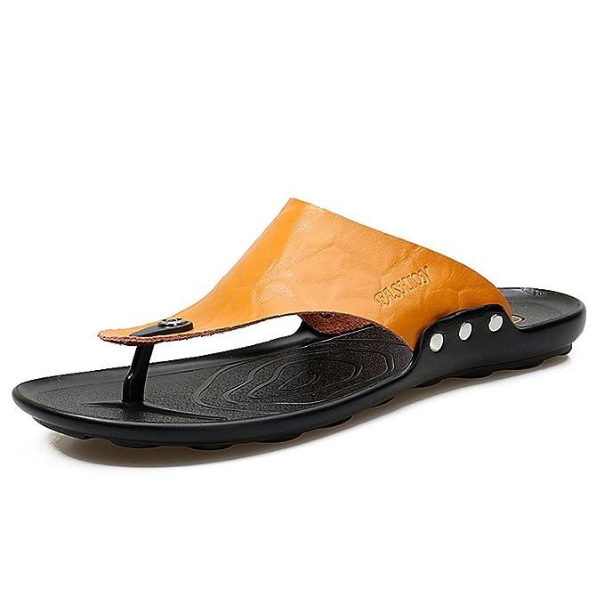 Sandalias Flip-Flop para Hombre,YiYLunneo Zapatillas De Hombre para Casa Calzado Clasico Flip-Flops Casual Diapositivas Playa Chanclas Zapatos: Amazon.es: ...