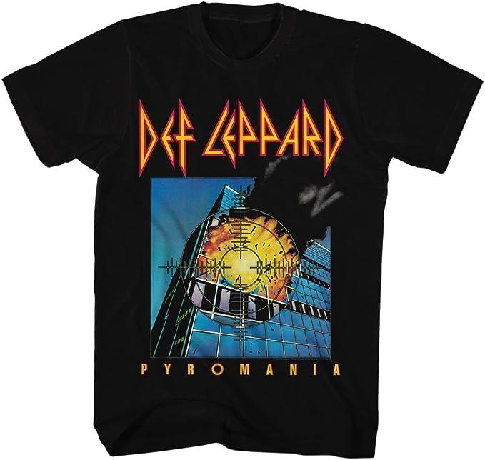 Def Leppard - Pyromania camiseta de los hombres de, X-Large, Black: Amazon.es: Ropa y accesorios