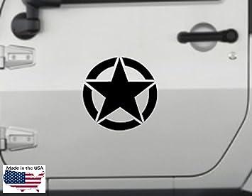 Army Star Sticker Vinyl Decal Jeep US Military Truck Hood Door Car Window