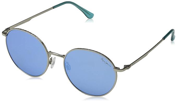 Pepe Jeans Hollis Gafas de Sol, Plateado (Matte Silver/Blue ...