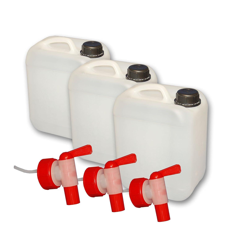 DIN 45 3er Set 5 Liter Kanister mit Hahn