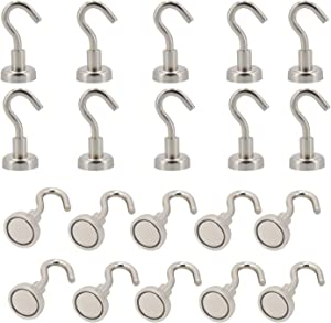 MHDMAG Magnetic Hooks Refrigerator,Cruise Ship Accessories, 18LBS Super Magnets with Neodymium Rare Earth for Hanging, Door Holder, Keys, Home, Office, Refrigerators, BBQ, Pack of 20