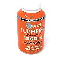 Turmeric Root Extract Curcumin Softgels, Qunol with Enhanced Absorption 1500mg,...