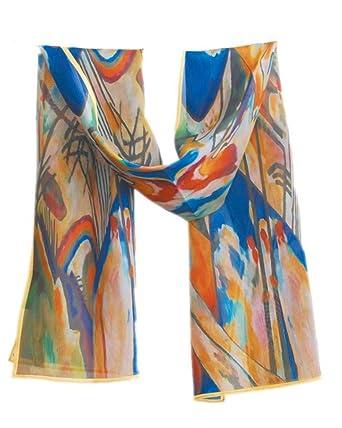 996299f7b84 Prettystern P119 - 160cm Foulard Echarpe Soie Artwork Reproduction Peinture  abstraite - Wassily Kandinsky - Compositions
