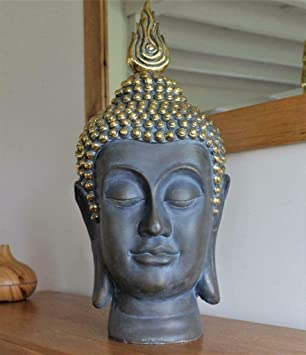 Home Hut Grande Tete De Bouddha Decorative A L Interieur